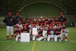 初優勝した砂川ファイヤーズの選手たち