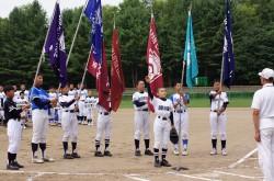 夏季大会・選手宣誓の様子
