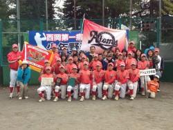 有終の美で優勝した石山アトムズ少年団の選手たち