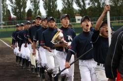 沼ノ端中学校の選手達(閉会式より)