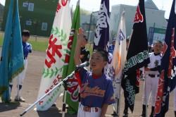 選手宣誓は宮本温和(5年・太陽旗)