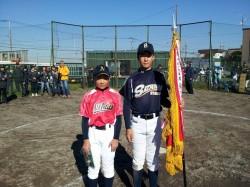 左から中澤選手・金丸選手