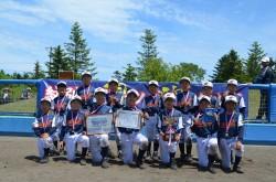 紋別地区代表の紋別オホーツクイーグルスの選手たち(写真:チーム提供)