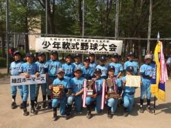太陽旗中央区代表の緑丘ホーマーズの選手たち(写真:チーム提供)