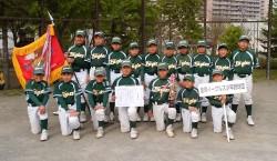 ホクレン旗・石狩支部清田区代表の里塚イーグルスの選手たち(写真:チーム提供)