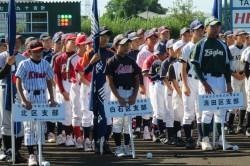 札幌市各区対抗オールスター戦・開会式での選手たち