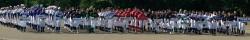 開陽台視界330度少年野球大会、開会式より(写真:中標津町軟式野球連盟提供)