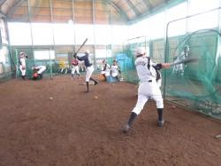 冬季練習に励むJBC札幌=平成29年1月・札幌市白石区東米里